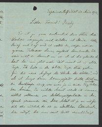 Letter from Svante Arrhenius to Georg Bredig, March 1912