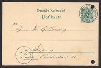 Postcard from Jacobus H. van 't Hoff to Georg Bredig, October 1896