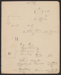 Scientific Notes from Jacobus van't Hoff sent to Georg Bredig