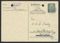 Postcard from Georg Bredig to Max Bredig, September 8, 1936