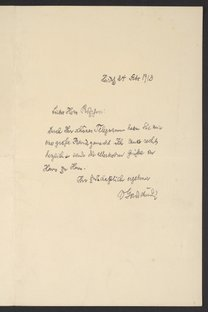 Letter from Victor Goldschmidt to Georg Bredig