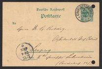 Postcard from Jacobus H. van 't Hoff to Georg Bredig, April 1896