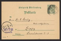 Postcard from Theodor Paul to Georg Bredig